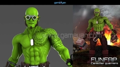 3D Funifap Warrior 3D Character Creator by gameyan game outsourcing company