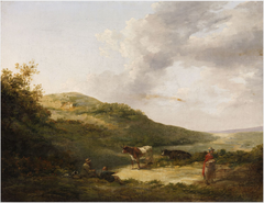 A Landscape with Figures and Cattle