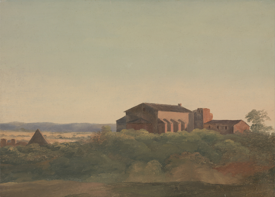 A View of the Church of S. Sabina and the Pyramid of Cestius, Rome
