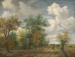 A Wooded Landscape with Figures