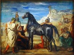 Arab Merchant Presenting a Mare