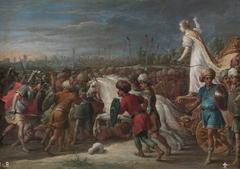 Armida en la batalla frente a los sarracenos