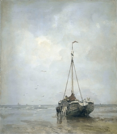 Bluff-bowed Fishing Boat on the Beach at Scheveningen