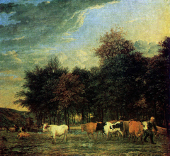 Cattle near a Wood