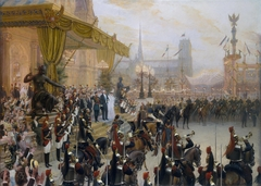 """Ceremonial Reception of Nicholas II in Paris"""