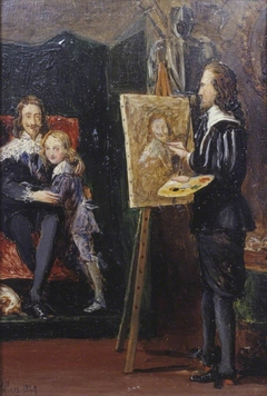 Charles I and his Son in the Studio of Van Dyck