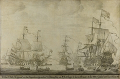 """Council of War aboard """"The Seven Provinces,"""" the Flagship of Michiel Adriaensz de Ruyter, 10 June 1666, preceding the Four Days' Battle"