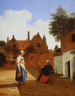 Courtyard with a Woman Spinning