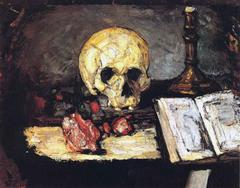 Crâne et chandelier