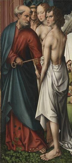 Der hl. Petrus geleitet die Seligen