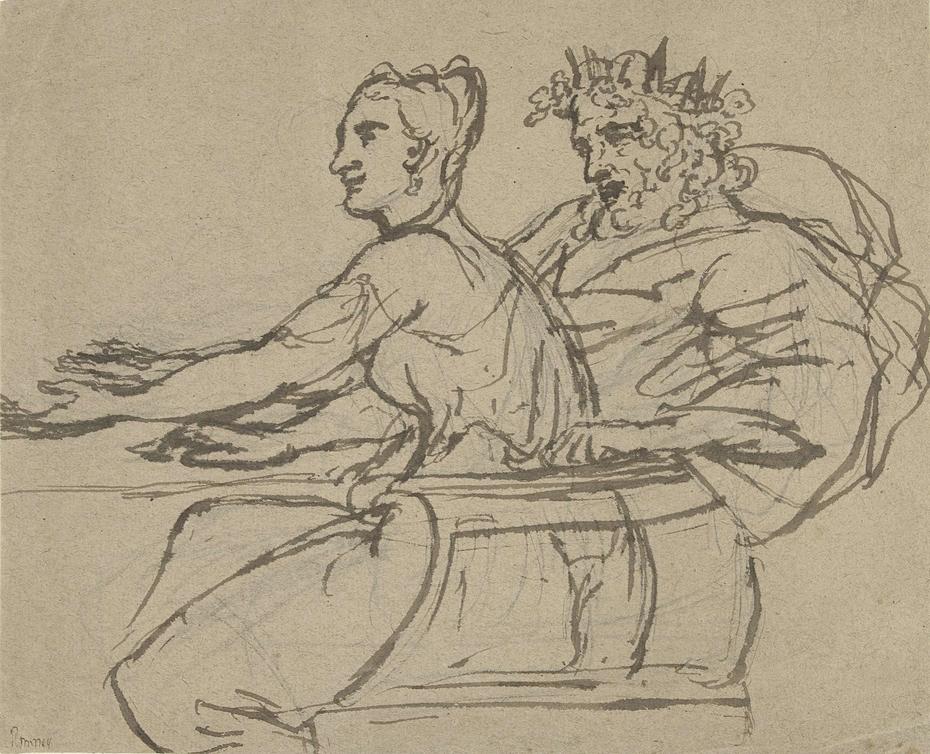 Een koning en een jonge vrouw