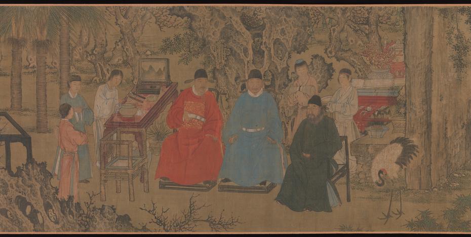 Elegant Gathering in the Apricot Garden