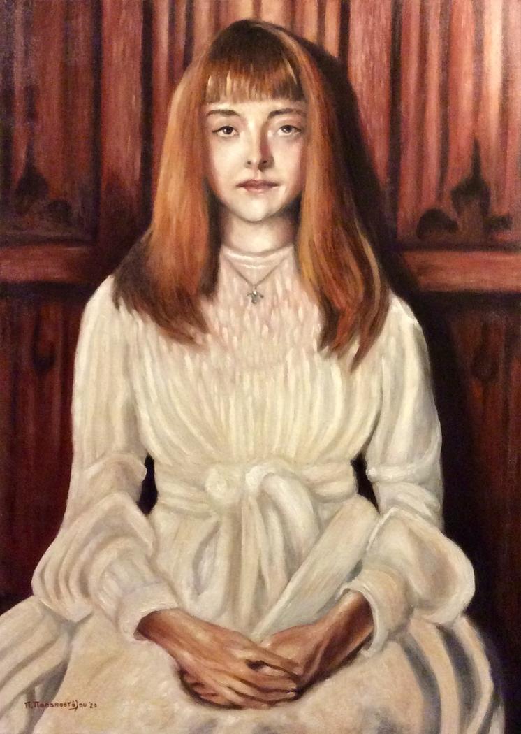 """Elsie (A study on J. S. Sargent's """"Elsie Palmer, 1890"""")"""