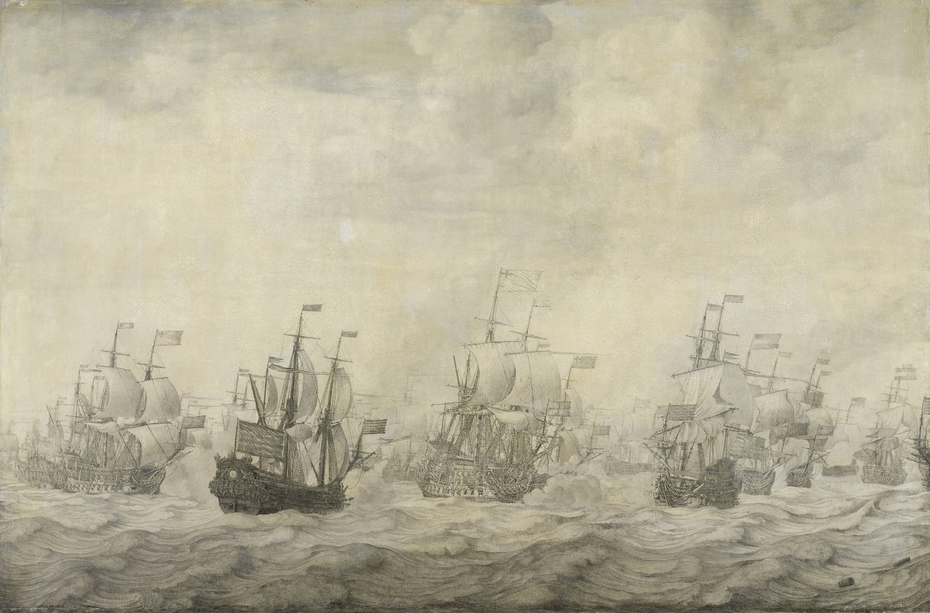 Episode from the Four Days Battle at Sea, 11-14 June 1666, in the Second Anglo-Dutch War (1665-67)