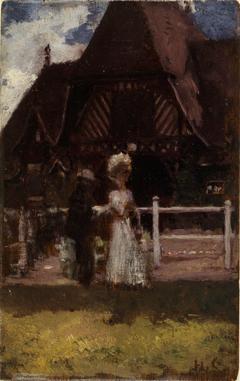 Étude pour un tableau non identifié, montrant l'hippodrome de Deauville