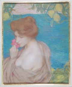 Femme à la fleur
