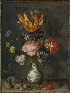 Flowers in a Wan-Li Vase