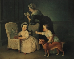George Harry Grey, later 6th Earl of Stamford (1765-1845) and Lady Henrietta Grey, later Lady Chetwode (1764-1826) as Children, with their Nurse