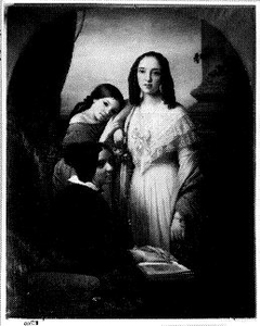 Groepsportret van de zusters van de schilder, te weten Henriëtta Augusta (1836-1865), Maria Johanna Justina (1837- 1919) en Johanna Cornelia Maria (1827-1914)