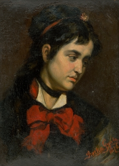 Head of a Girl with Red Scarf