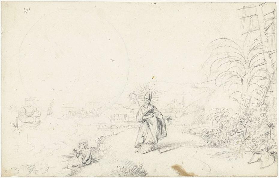 Heilige Augustinus en het kind aan zee