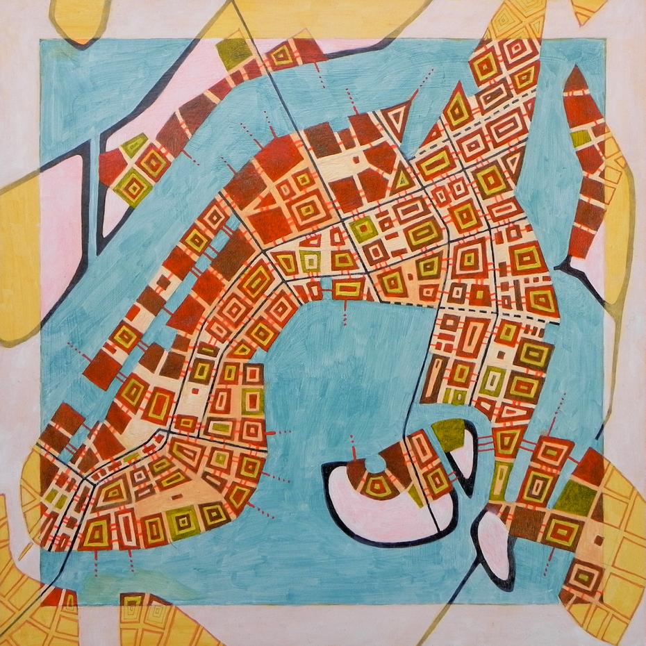 Imaginary map of Abu Dhabi