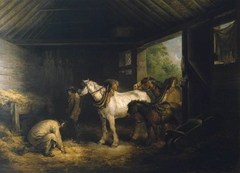 Inside of a Stable