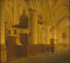 Interieur van de Sint Bavo te Haarlem