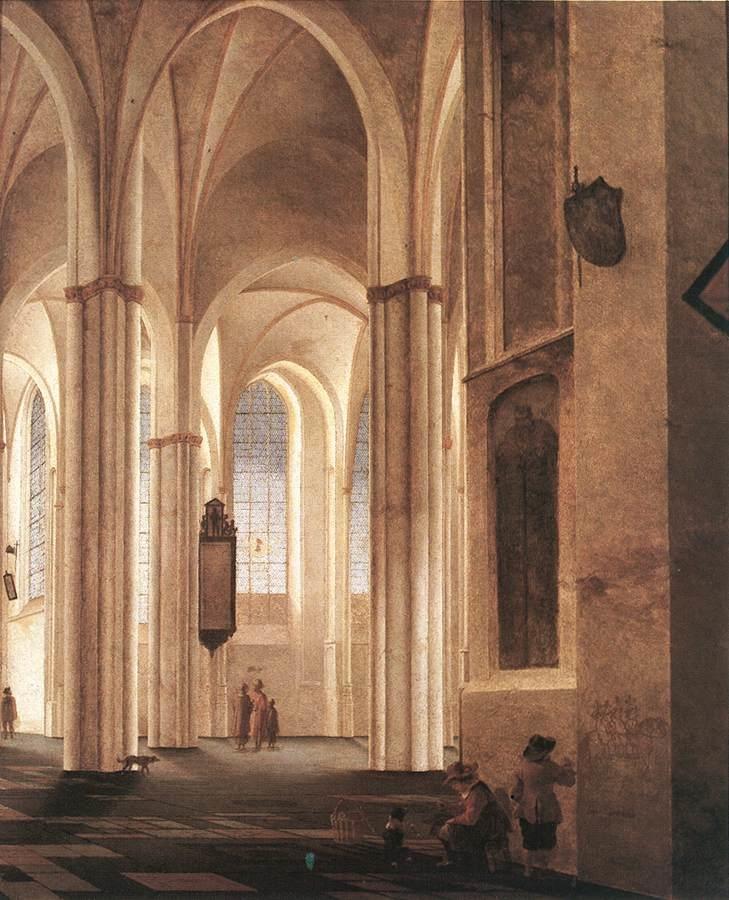 Interior of the Buurkerk in Utrecht