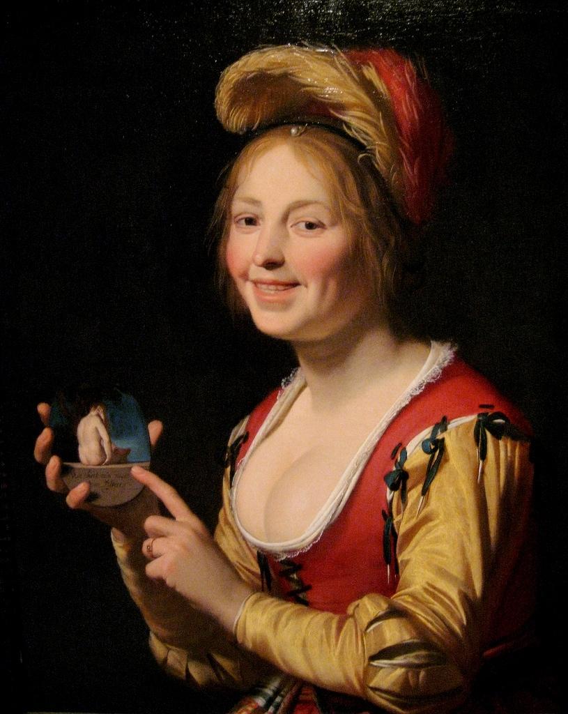 Jonge vrouw met een medaillon