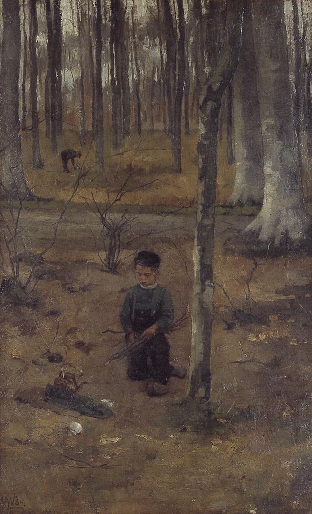 Jongetje in het bos bij Ewijkshoeve