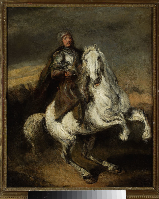 Knight on a grey horse
