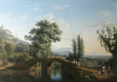 Landscape with a Bridge, with a View of Monte Sarchio