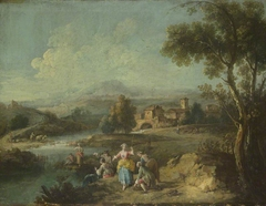 Landscape with a Group of Figures Fishing