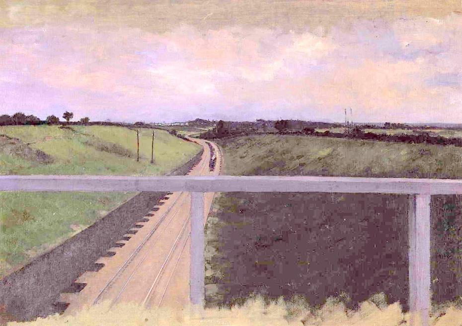 Landscape with Railway Tracks