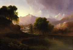 Landscape with Stream and Mountains