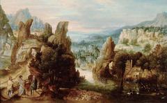 Landschaft mit dem Gang nach Emmaus