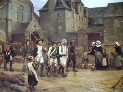 Les Révoltés de Fouesnant ramenés à Quimper par la Garde nationale en 1792