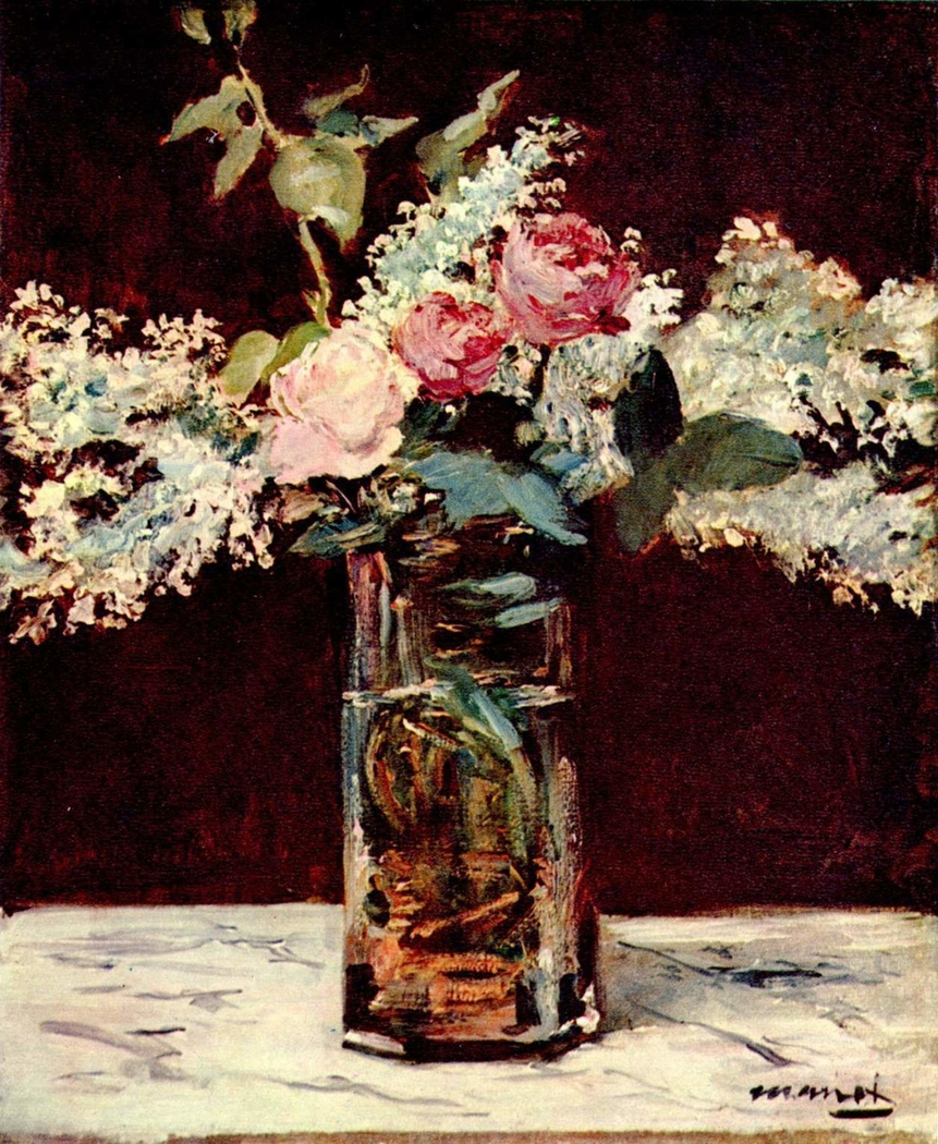 Lilacs and Roses