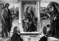 Madonna and Child Enthroned with Saints and Donor