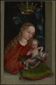 Madonna and Child in a Window