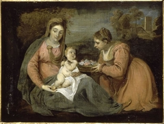 Madonna and Child with St Dorothy