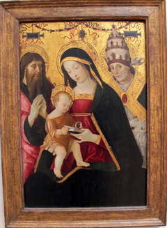 Madonna and Child with St. Jerome and St. Gregory the Great