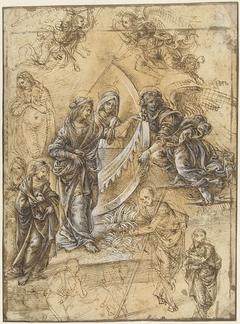 Madonna, heilige vrouwen, engelen en figuren