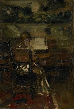 Meisje aan de piano