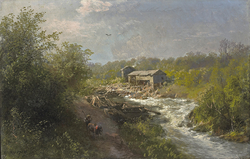 Mill by a Mountain Stream