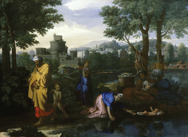 Moses exposed by the river