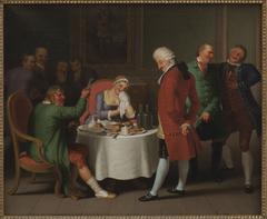 """Motiv fra Ludvig Holbergs """"Jeppe på Bjerget"""", III akt, 3. scene"""