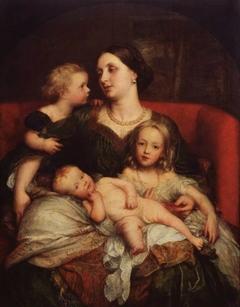 Mrs George Augustus Frederick Cavendish-Bentinck and her Children