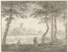 Muiderberg, van de Hooge Weg af gezien